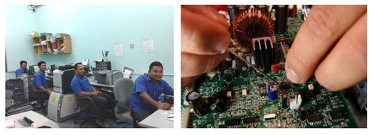 Technicians, board repair