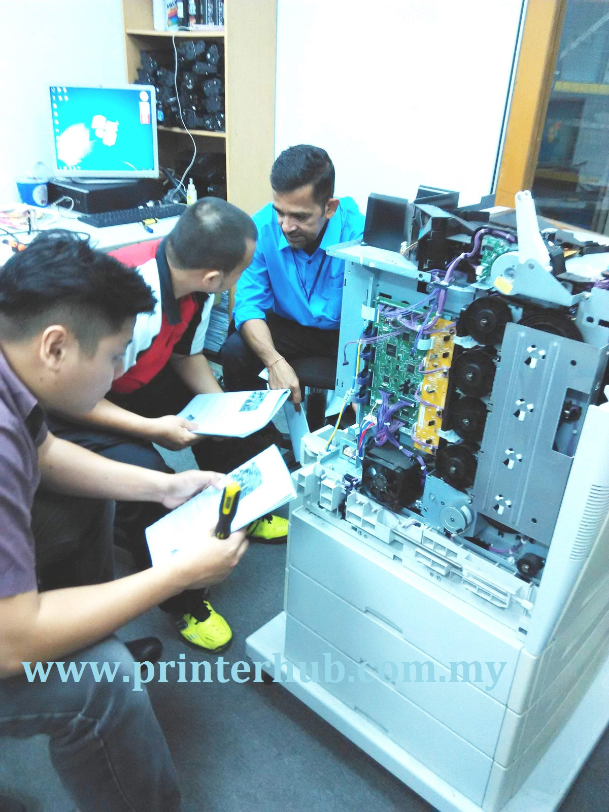 Training printer repair, logo